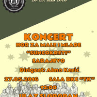 A poster for a concert